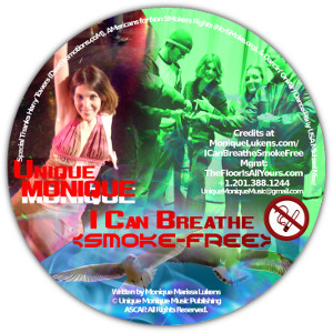 Monique Lukens I Can Breathe SMoke-Free CD