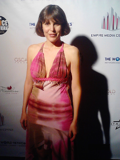 Monique Lukens on the red carpet.<br>Photo credit: Mike Casper